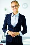 Businesswoman in suit Royalty Free Stock Photo