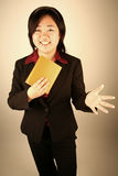 Businesswoman in a  suit Royalty Free Stock Images