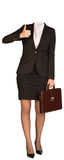 Businesswoman in suit without head, holding Stock Photography