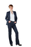 Businesswoman in suit smiling at camera Royalty Free Stock Image
