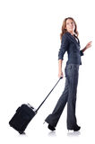 Businesswoman with suitcase Stock Photos
