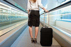 Businesswoman with a suitcase Royalty Free Stock Photography