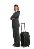 Businesswoman with suitcase Royalty Free Stock Photos