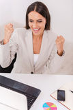 businesswoman sukces Obraz Royalty Free