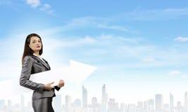 businesswoman sukces Obraz Stock