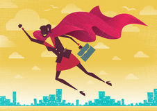 Businesswoman is a Superhero. Royalty Free Stock Photo