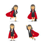Businesswoman superhero vector Royalty Free Stock Photos