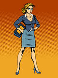 Businesswoman superhero woman vamp Stock Image