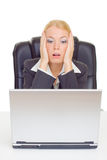 Businesswoman in suprise Royalty Free Stock Images