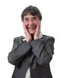 Businesswoman surprised Stock Photos