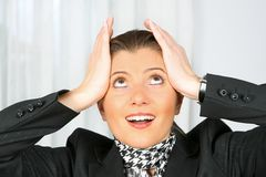 Businesswoman surprised Stock Images