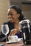 Businesswoman at table. Stock Photography