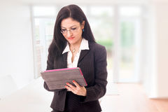 Businesswoman With Tablet Royalty Free Stock Images