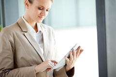 Businesswoman tablet computer Stock Image
