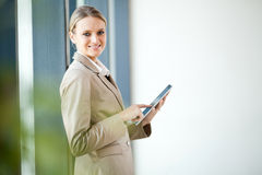 Businesswoman tablet computer Royalty Free Stock Photography