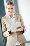 Businesswoman with tablet computer Royalty Free Stock Images
