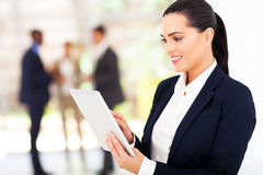 Businesswoman tablet computer Stock Images