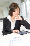 Businesswoman with tablet computer in the office Royalty Free Stock Images