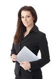 Businesswoman with tablet pc Royalty Free Stock Images