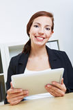 Businesswoman with tablet pc Stock Photos