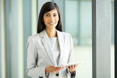 Businesswoman tablet pc Stock Photo