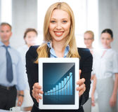 Businesswoman with tablet pc Royalty Free Stock Photo