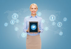 Businesswoman with tablet pc computer Royalty Free Stock Photo