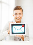 Businesswoman with tablet pc in office Royalty Free Stock Photos