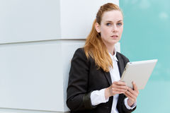 Businesswoman With Tablet PC Stock Image