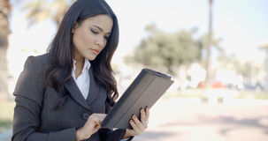 Businesswoman With Tablet Royalty Free Stock Photos