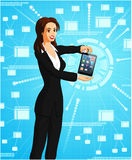 Businesswoman with tablet Stock Photography