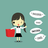 Businesswoman take a chance for success Royalty Free Stock Photo