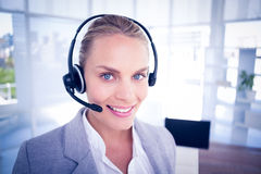 Businesswoman taking calls Royalty Free Stock Photos