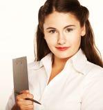 Businesswoman Taking Notes Stock Photo