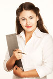 Businesswoman Taking Notes Stock Image