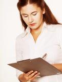 Businesswoman Taking Notes Royalty Free Stock Photos