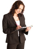 Businesswoman Taking Notes Royalty Free Stock Photos