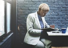 Businesswoman taking notes. Work concept Royalty Free Stock Photo