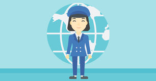 Businesswoman taking part in global business. Stock Image