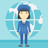 Businesswoman taking part in global business. Stock Photography