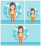 Businesswoman taking part in global business. Royalty Free Stock Images