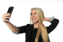 Businesswoman Taking Selfie Royalty Free Stock Photos
