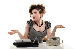 Businesswoman taking telephone call in office Royalty Free Stock Image