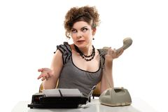 Businesswoman taking telephone call in office Royalty Free Stock Photos
