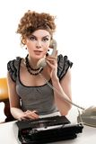 Businesswoman taking telephone call in office Stock Photography