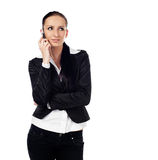 Businesswoman talk on the phone Royalty Free Stock Photography