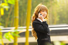 Businesswoman talk phone Stock Images