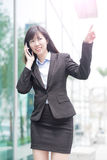 Businesswoman talk on phone Stock Images