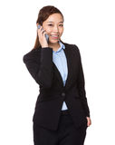 Businesswoman talk to cellphone Royalty Free Stock Image