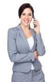 Businesswoman talk to cellphone Stock Photos